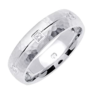 Amazon.com: 0.30ct TDW White Diamonds Platinum Carved ...