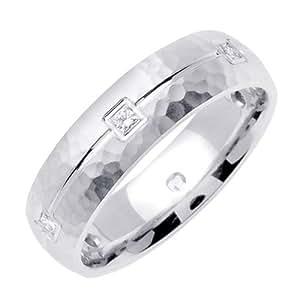 Amazon.com: 0.30ct TDW White Diamonds Platinum Carved ...