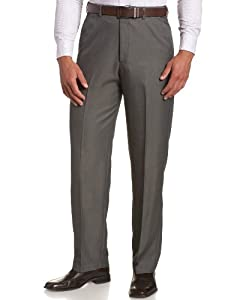 Haggar Men's Cool 18 Hidden Expandable Waist Plain Front Pant,Graphite,36x31