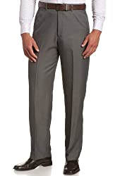 Haggar Men's Big-Tall Cool 18 Hidden Expandable Waist Plain Front Pant