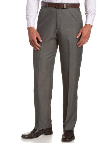 Haggar Men'S Big-Tall Cool 18 Hidden Expandable Waist Plain Front Pant,Graphite,48X34