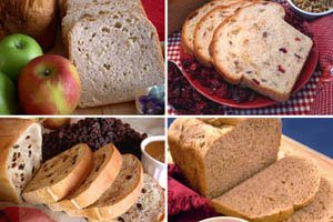 Fruit & Nut Collection Bread Machine Mixes (Cranberry Nut, California Raisin, Knobby Apple & Prairie Sunflower) (Cinnamon Raisin Bread Machine Mix compare prices)