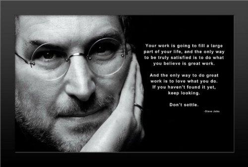 Steve Jobs - Keep Looking Don't Settle Pop Art Art Print - Pop Art Memorabilia - 11x17 Poster FRAMED, Vibrant Color, Features Steve Jobs. (Steve Jobs Picture compare prices)