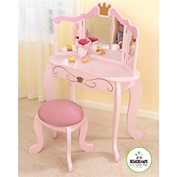 Gt Pink Vanity Stool