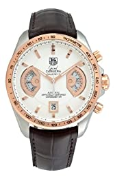 TAG Heuer Men s CAV515B FC6231 Grand Carrera Calibre 17 RS Automatic Chronograph White Dial Watch