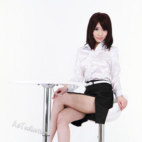 【A&Tcollection】マイ☆ティーチャー/SEXY★女教師コスプレ 白ブラウス&深スリット入タイトスカート