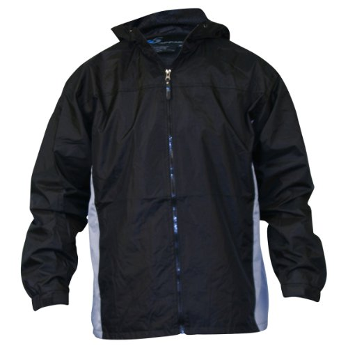 Men's i5 lightweight Hooded Windbreaker Jacket,X-Large,Black / grey