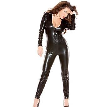 Allure, Women's Sexy Kitten Catsuit, One Size, Black