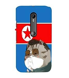 EPICCASE Kim jong cat Mobile Back Case Cover For Moto X Style (Designer Case)