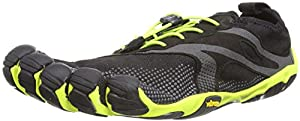 Vibram Fivefingers Mens Bikila EVO M Running Shoes 14M3501 Black/Yellow 7 UK, 41 EU
