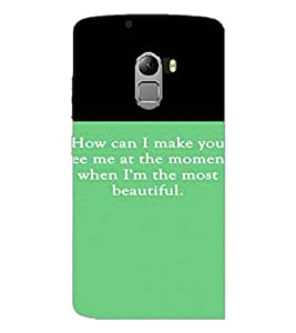 PrintDhaba Quote D-4214 Back Case Cover for LENOVO VIBE K4 NOTE (Multi-Coloured)