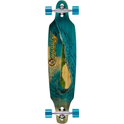 Sector 9 Blue Wave Lookout dropthrough Complete Longboard Skateboard, 9.6-Inch x 42.0-Inch