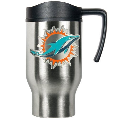 NFL Miami Dolphins 16oz Stainless Steel Travel Mug (Primary Logo) (Miami Dolphins Thermal compare prices)