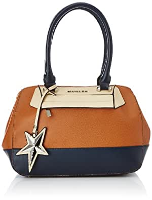 Thierry Mugler Charme 6, Sac bowling - Multicolore (6I27 Cognac/Marine/Beige), Taille Unique
