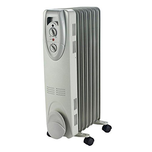 1500-Watt Electric Oil-Filled Radiant Portable Heater - Grey by Cuori (Oil Filled Heater Cuori compare prices)