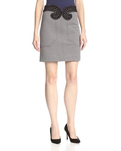 Carven Women's Striped Jersey Skirt