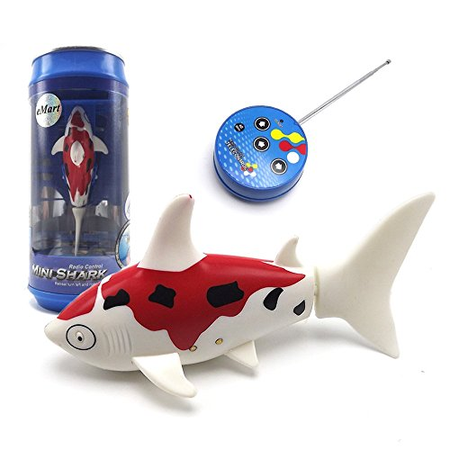 eMart Cute Mini RC Boat Electric Toy Remote Control Fish Shark Swim in Water for Kids Gift - Red (Shark Remote Control compare prices)