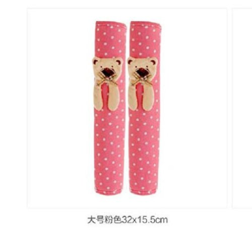 Gaobei 23X15.5cm 1Pair Doorknob cute Handle Cover Double-door Refrigerator Gloves (Pink Door Handle Covers compare prices)