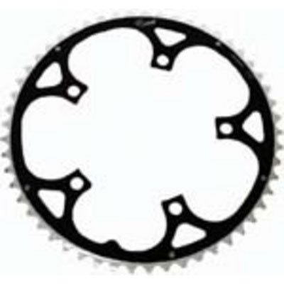 Rocket Alloy Ramped Chainring 130mm 5 Bolt 54T Black/Silver