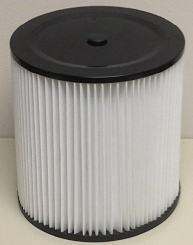 "Shop Vac, Genie, Rigid And Craftsman Universal Fit Cartridge H12 Hepa Filter To Fit Most Wet/Dry Vacuums (5 Gallon Capacity Or Larger). 7.5"" Tall / 7.25"" Outer Dia. / 6"" Inner Dia. With Pop Out Cap To Accomadate Units With Retainer And Nut. back-7474"