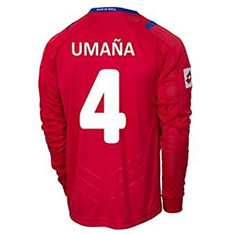Buy Lotto UMAÑA #4 Costa Rica Home Jersey World Cup 2014 (Long Sleeve) by Lotto