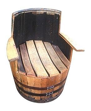 Fatto a mano in vero legno rovere Ricondizionato Whisky Barile Poltrona in legno botte mobili