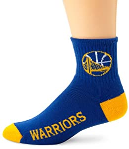 Golden State Warriors Team Color Quarter Socks by For Bare Feet