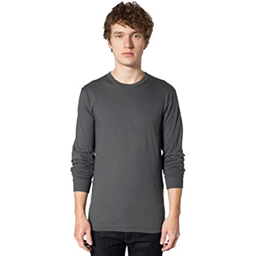 American Apparel -  T-shirt - Uomo Asphalt Medium