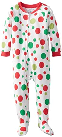 Sara's Prints Boys 2-7 Footed Pajama, Big Holiday Dot, 3
