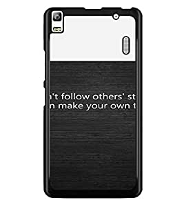 PrintDhaba Quote D-4720 Back Case Cover for LENOVO A7000 PLUS (Multi-Coloured)