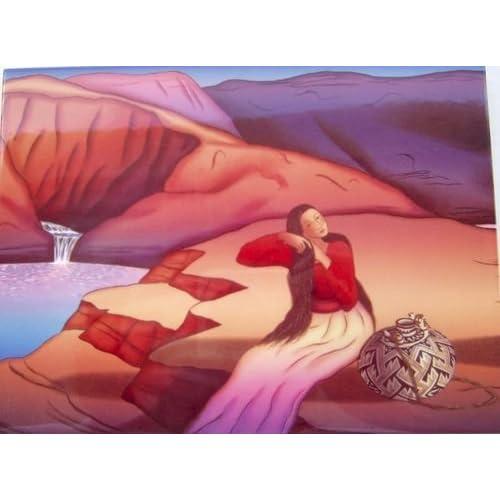 Amazon com - R C Gorman Waterfall Ceramic Art Tile