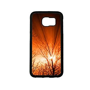 Vibhar printed case back cover for Samsung Galaxy S6 Edge NatureOrange