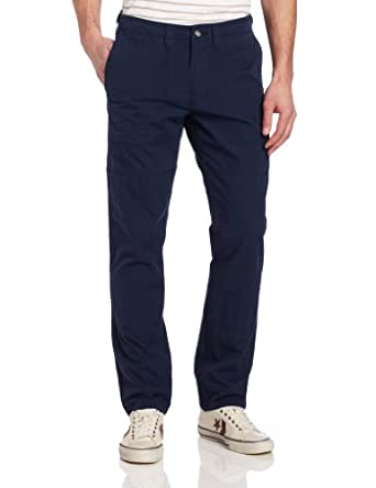 Dockers Men's Bridge Sailmaker Khaki Slim Cargo Flat Front Pant, Officers Blue, 28x28