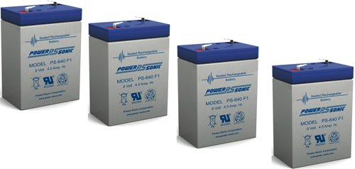 6V 4.5Ah Sla Battery Replaces Cp0660 Gp645 Lcr6V4P Hk-3Fm4.5 Wp4-6 - 4 Pack