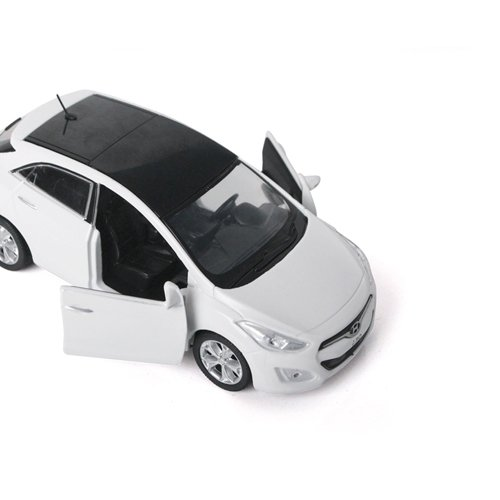 [Hyundai Toys Collation] Mini Car 1:38 Scale Unique Miniature Diecast Model 1-pc For 2012 Hyundai New i30 Elantra GT (White)