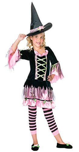 Girls Blossom Witch Kids Child Fancy Dress Party Halloween Costume