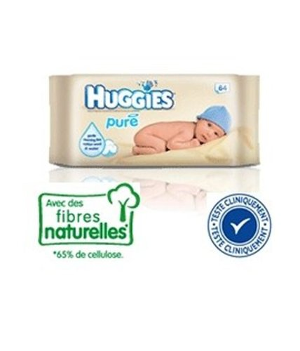Huggies - Pure Baby Wipes 64 Pack