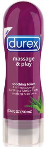 Durex Massage and Play Soothing Touch 2in1 Lubricant - Aloe Vera, 6.7 Ounce