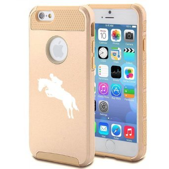apple-iphone-5c-shockproof-impact-hard-case-cover-horse-with-rider-jockey-gold