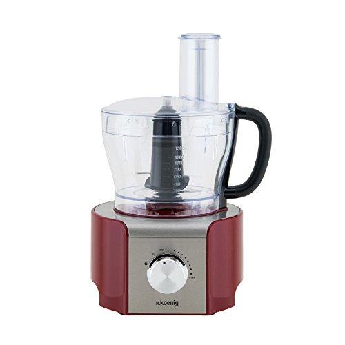 H. KOENIG MX18 Standmixer, Küchenmixer, 8 Funktionen, 1.5 L, 800 W, rot