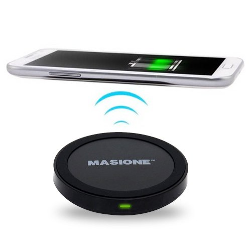 Masione™ Qi Enabled Wireless Charger Inductive Charging Pad Station For Nexus 4 / 5 / 10 / 7(2013), Htc 8X, Htc Droid Dna, Lumia 920, 928, 820, Lg G2, G3, Moto Droid Maxx / Droid Mini, Pentax Wg-Iii Camera, Samsung, Iphone, Nokia, Google, Htc And Other Qi