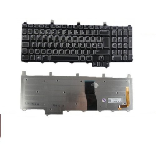 Brand New Genuine Original For Dell Alienware M17x Notebook Laptop English Backlit Keyboard UK Layout Black Colour