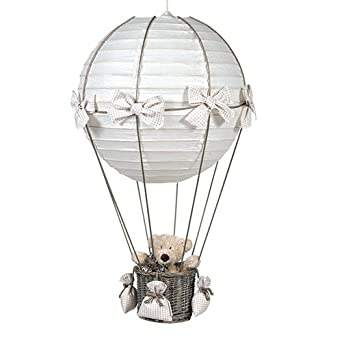 Ƹ̵̡ Ballonlampe Karo beige h18