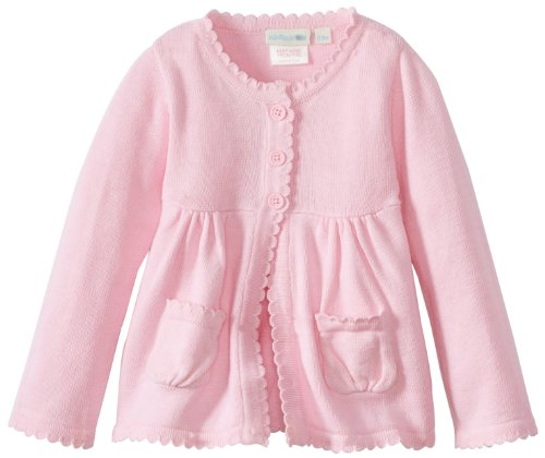 New JoJo Maman Bebe Baby-Girls Infant Cardigan Sweater w/Scalloped Edge