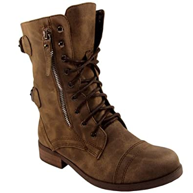LOWA military boots and combat boots available in brown and black. Part of the LOWA Task Force Collection, these leather boots come in UK sizes 3 -