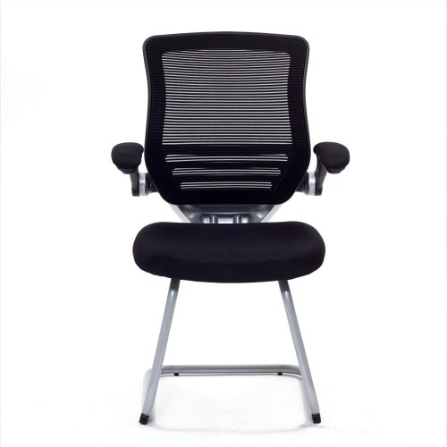 LexMod Edge Guest Chair with Sled Base