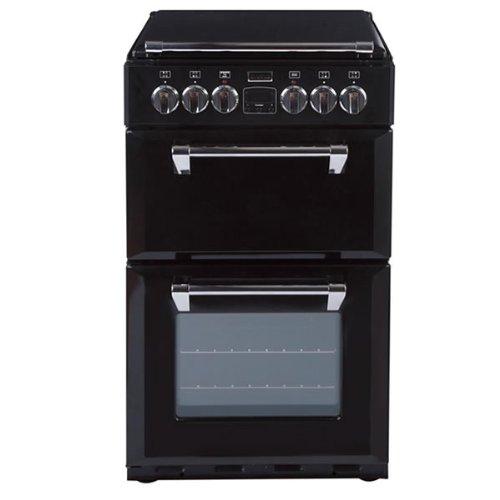 Stoves RICHMOND 550DFW BLACK 550mm Mini Range Dual Fuel Cooker WOK Burner Black