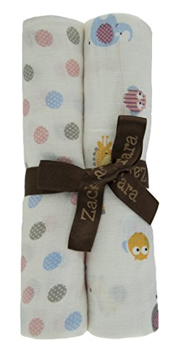 Zack & Tara Swaddle - Thick 'n' Thin Pack - Adorable Animals & Pretty Polka