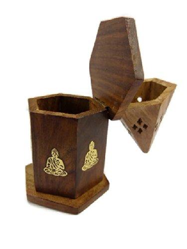 Old Wisdom - Candelero para incienso (palisandro, 15 cm), diseño de Buda
