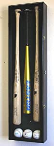 3 Baseball Bat Display Case Cabinet Holder Wall Rack w  UV Protection - Lockable by sfDisplay